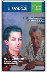 Cubierta para Boletín ISFODOSU al día: año 5, núm. 16, marzo ─ abril 2018